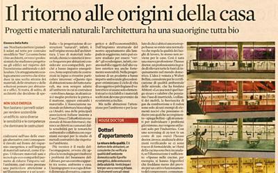 """Il ritorno alle origini della casa - Articolo su """"Il Sole 24 Ore"""" - 31/05/2010"""