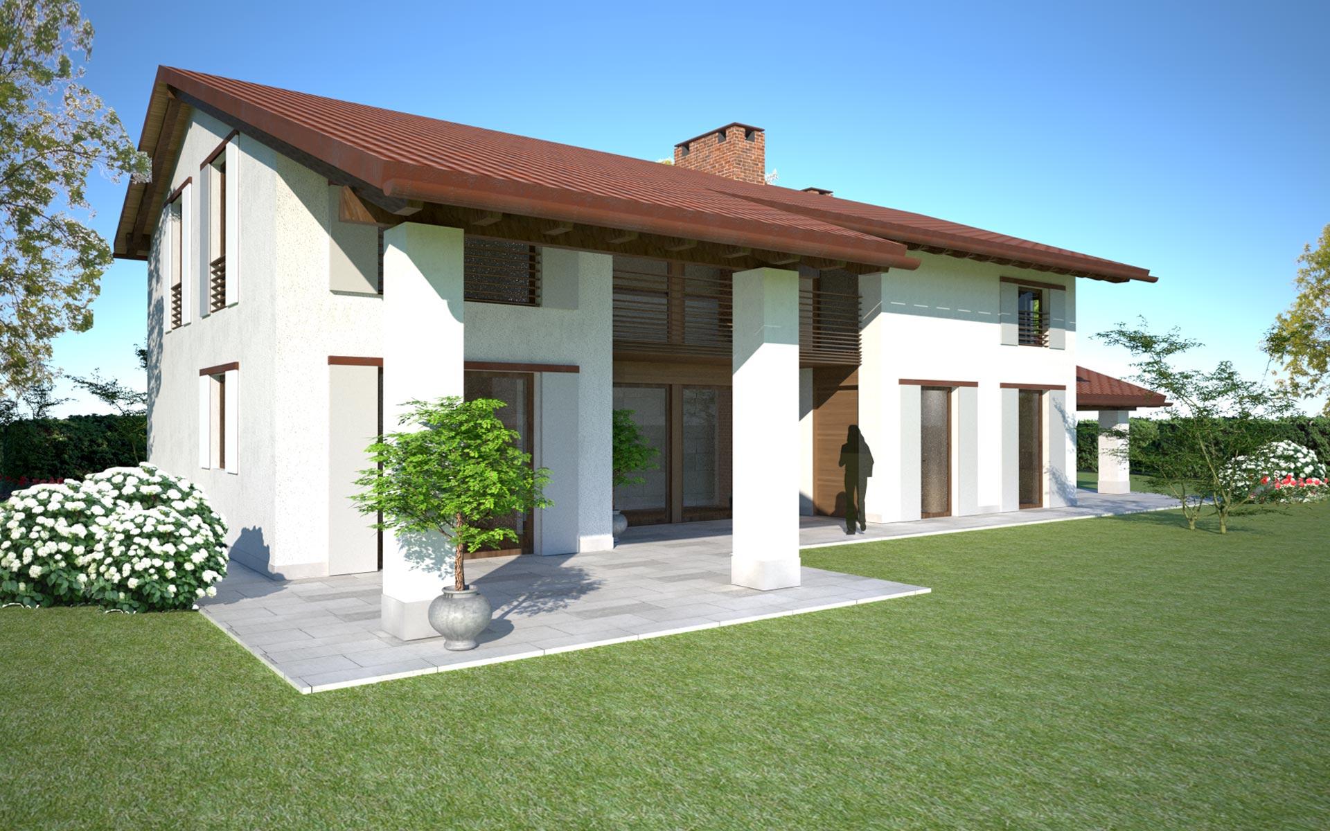 Casa con portico tutte le ville sono corredate di piscina for Piani di casa cottage con portici
