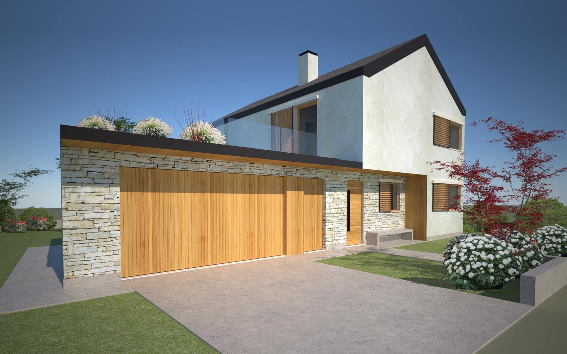 Villa in x lam progetto per pove del grappa globarch for Villa legno